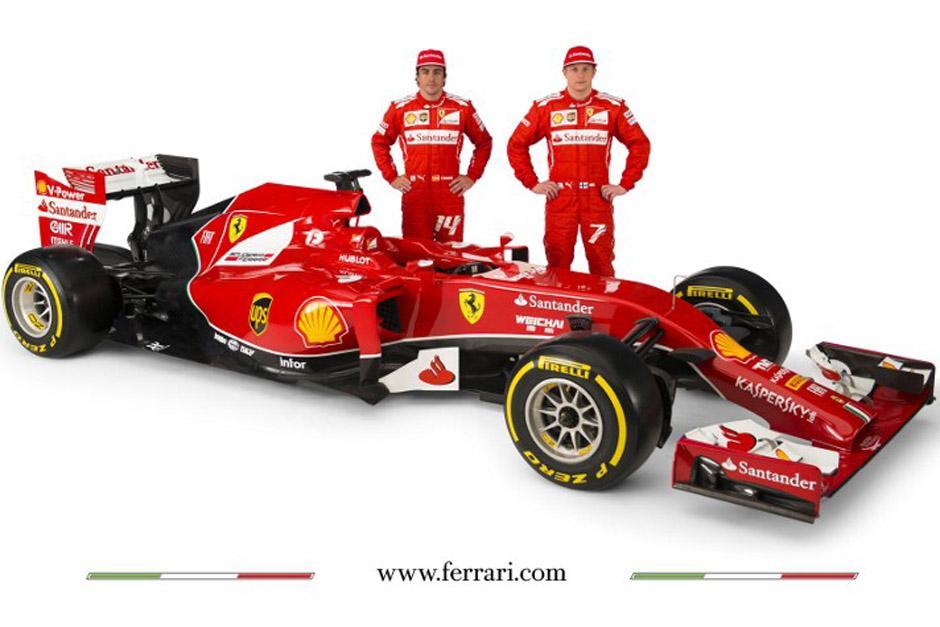 Raikkonen y Alonso son los pilotos de la escudería Ferrari.