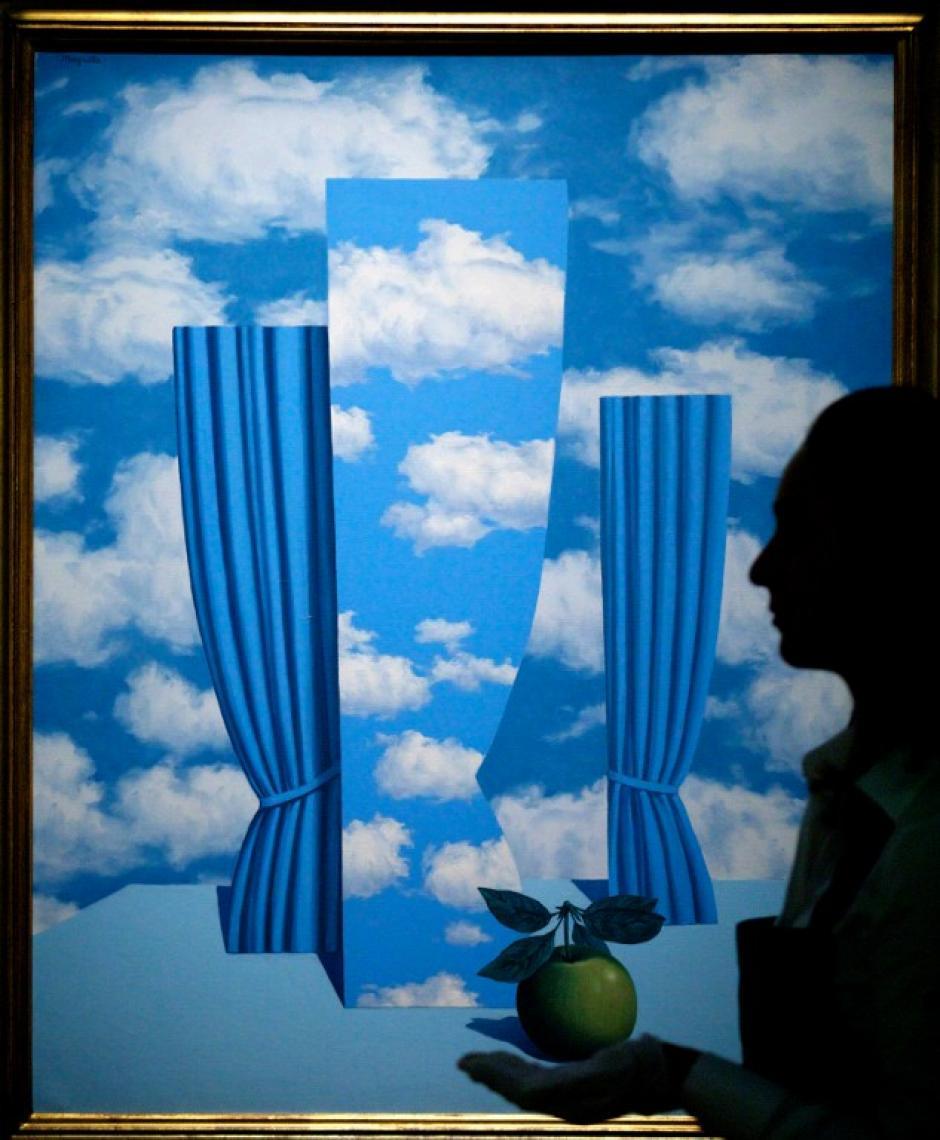 """También entrará a subasta la obra de Rene Magritte """"Le Beau Monde"""". Foto AFP"""