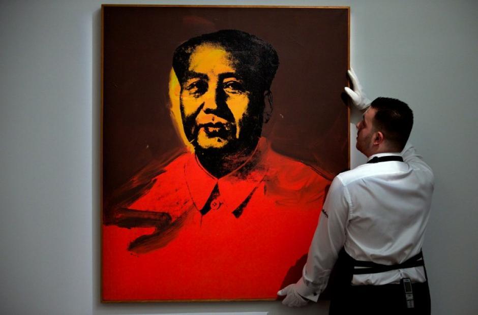 """""""Mao"""" de Andy Warhol. Foto AFP"""