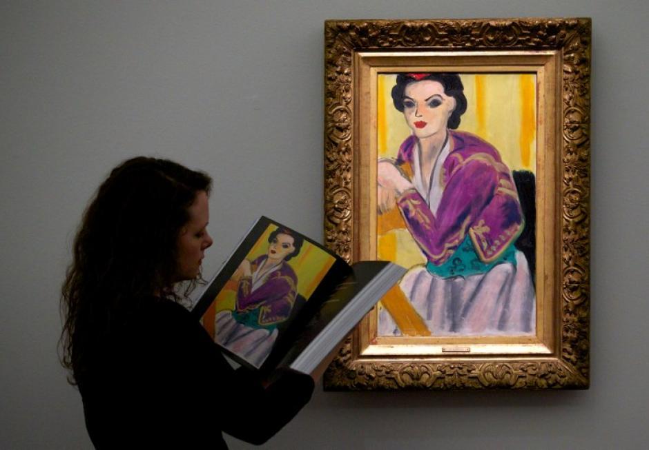 """Bolero Violet"" de Henry Mattisse. Foto AFP"