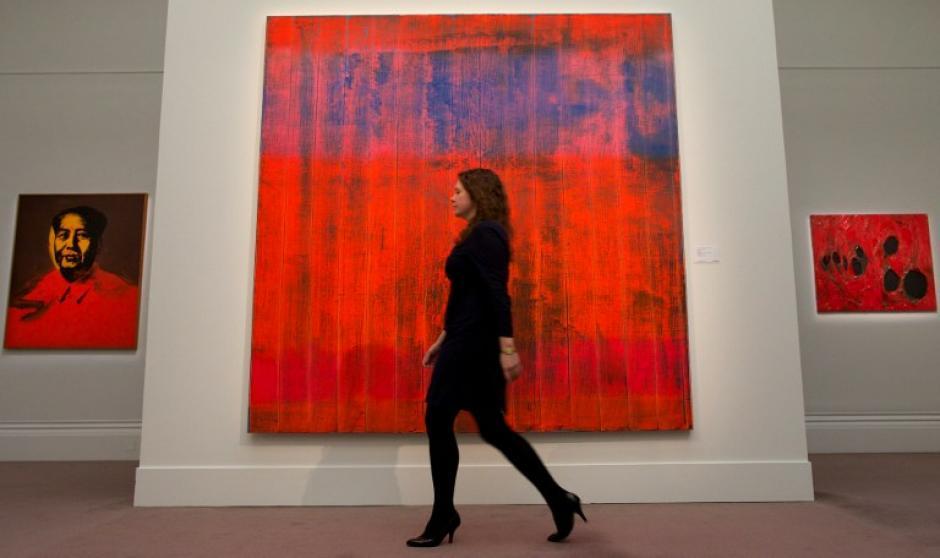 """""""Wand wall"""" de Gerhard Richter. Foto AFP"""