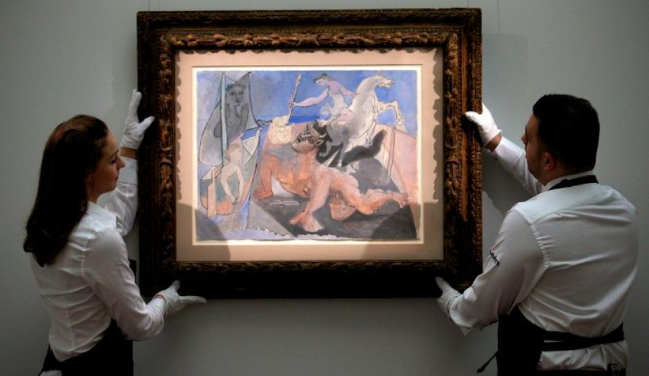 """Entre las obras a subastar está """"Composition au minotaure"""" de Pablo Picasso. Foto AFP"""