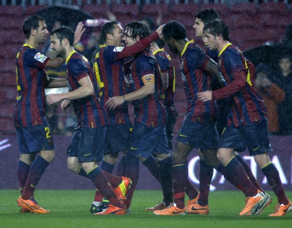 Puyol anotó el 1-2 con el que el Barcelona le dio la vuelta al marcador en el Camp Nou ante el Espanyol