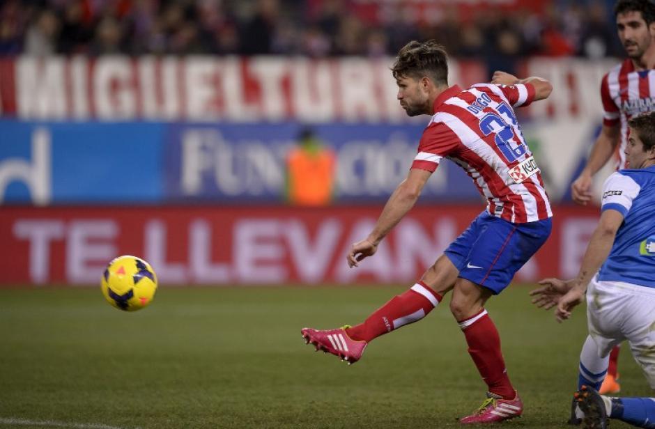 Diego Ribas anotó en el último juego de liga del Atlético de Madrid ante la Real Sociedad