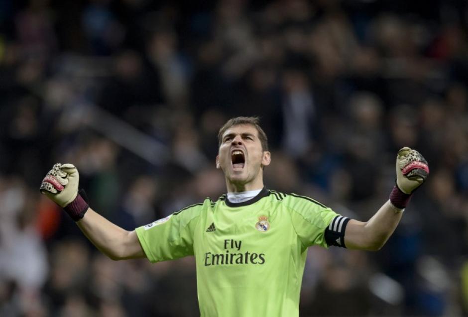 Iker Casillas es una leyenda viviente en el Real Madrid y acaba de conseguir un nuevo récord de 952 minutos sin recibir gol. (Foto: AFP)