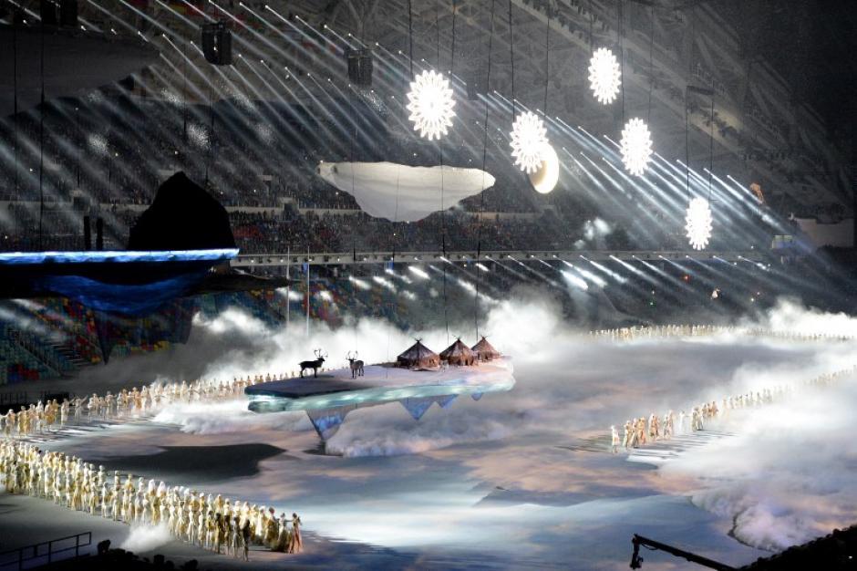 Uno de los actos culturales rusos durante la inauguración