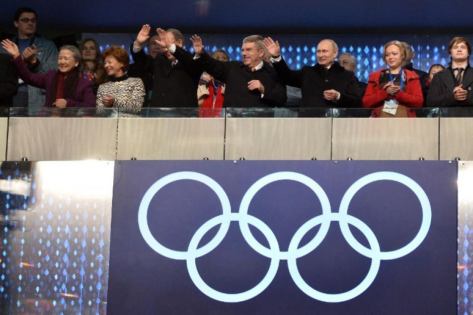 El presidente ruso, Vladimir Putin, en la inuguración de los Juegos Olímpicos de Invierno, Sochi 2014. (AFP)