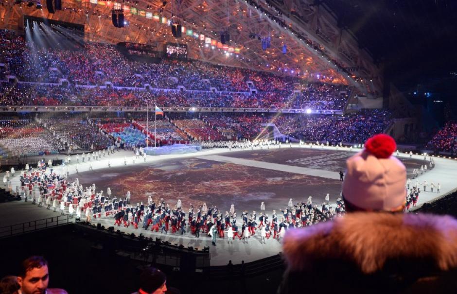 La inauguración de los Juegos Olímpicos de Invierno fue una fiesta en Sochi. (AFP)