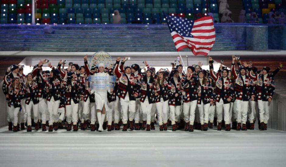La numerosa delegación de Estados Unidos es uno de los rivales a vencer en Sochi 2014 (AFP)