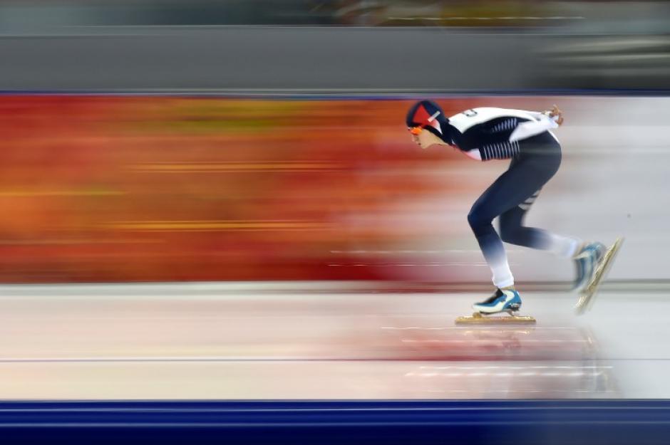 Martina Sablikova de la República Checa compite en patinaje de velocidad. (Foto: Damien Meyer/AFP)