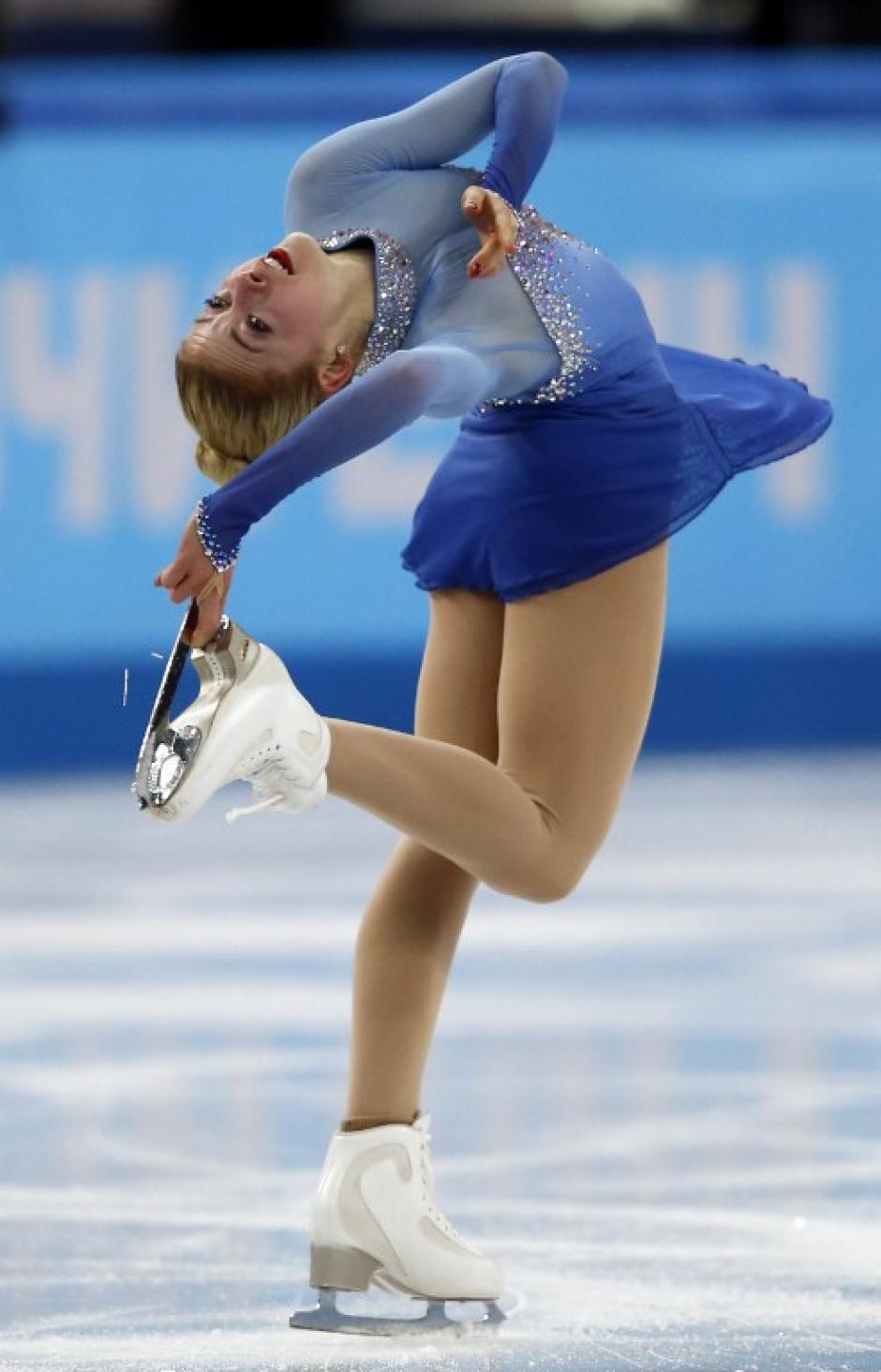 La patinadora estadounidense fue la ganadora de la medalla de oro en patinaje artístico. (Foto: Adrian Dennis/AFP)