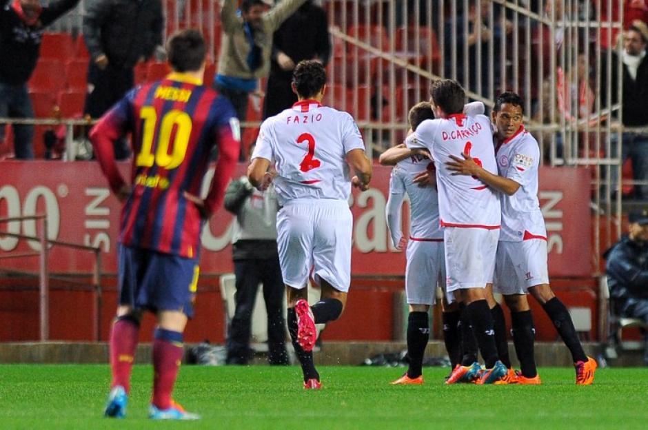 El marcador del juego lo abrió Alberto Moreno, al minuto 15 a favor, del Sevilla. (Foto: Jorge Guerrero/AFP)