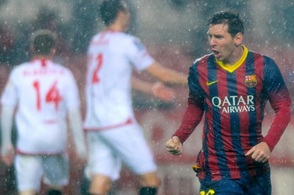 Lionel Messi anotó dos goles en el triunfo de visita por 4-1 del Barcelona ante el Sevilla. (Foto: Jorge Guerrero/AFP)