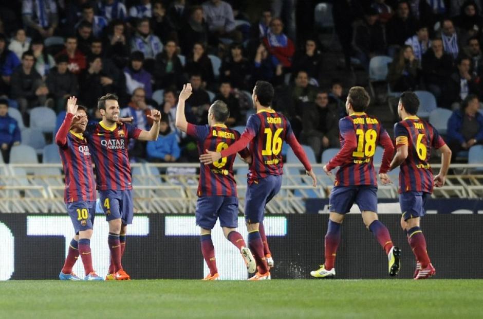 El Barcelona empató en su último encuentro 1-1 ante la Real Sociedad por la Copa y comparte el liderato de la Liga con el Real Madrid y el Atlético