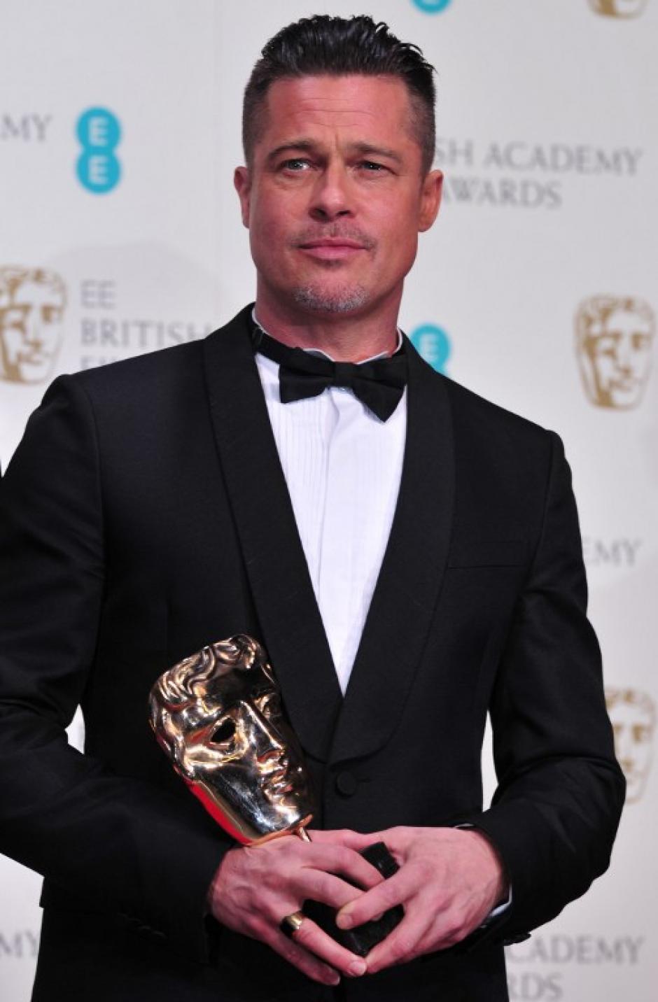 """Brad Pitt también fue galardonado con un Bafta por su participación en """"12 years slave"""". Foto AFP"""