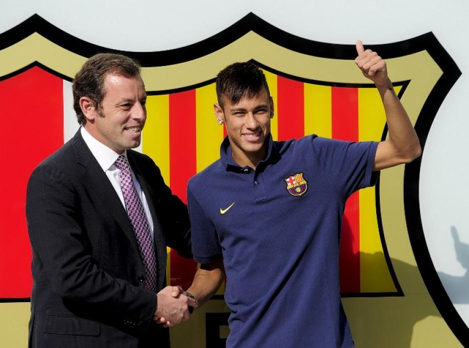 El expresidente del Barcelona, Sandro Rosell, fue el encargado de la operación del fichaje de Neymar