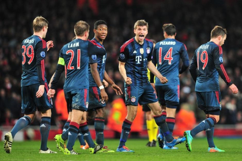 El Bayern Munich derrotó 2-0 de visita al Arsenal en el juego de ida de los octavos de final de la UEFA Champions League