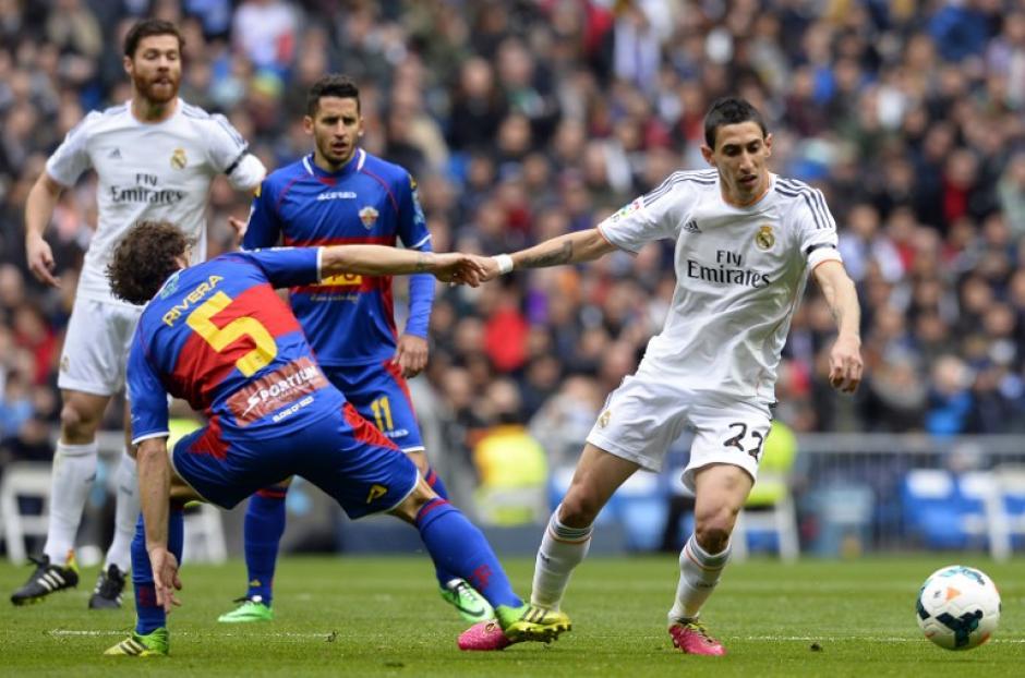 El argentino Ángel Di María fue uno de los motores del juego del Real Madrid. (Foto: AFP)