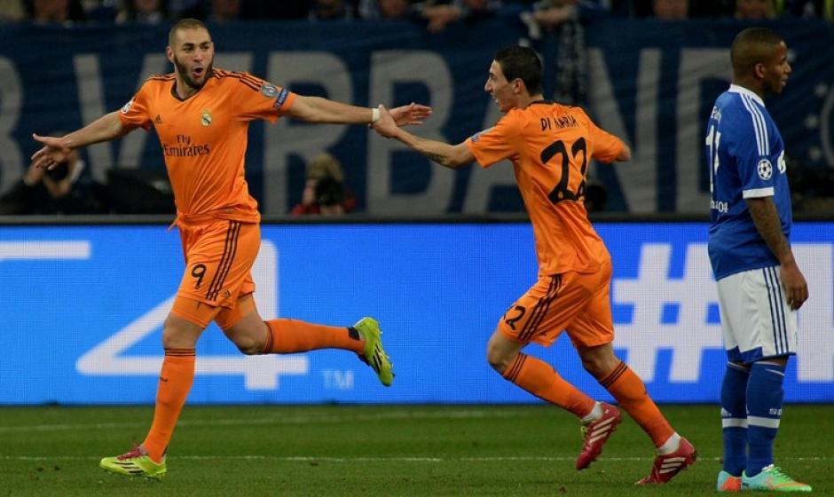 Benzema abrió el marcador en el Veltins-Arena al minuto 13 tras una asistencia de Cristiano Ronaldo