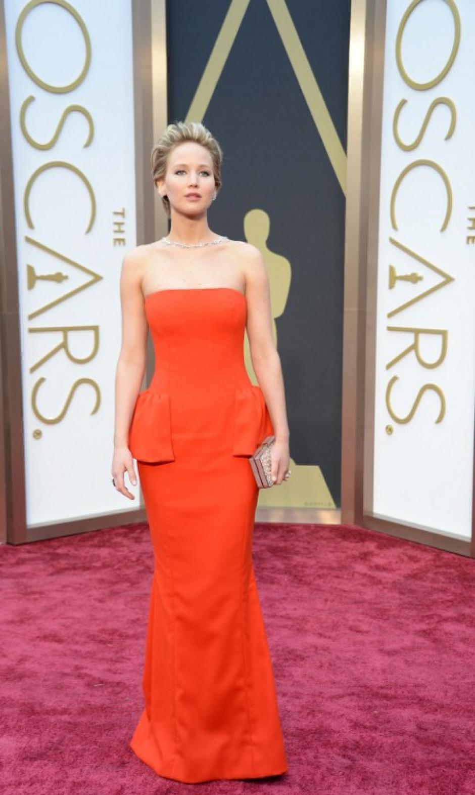 """La actriz Jennifer Lawrance está nominada al premio de mejor actriz secundaria por la película """"American Hustle"""". (Foto: AFP)"""