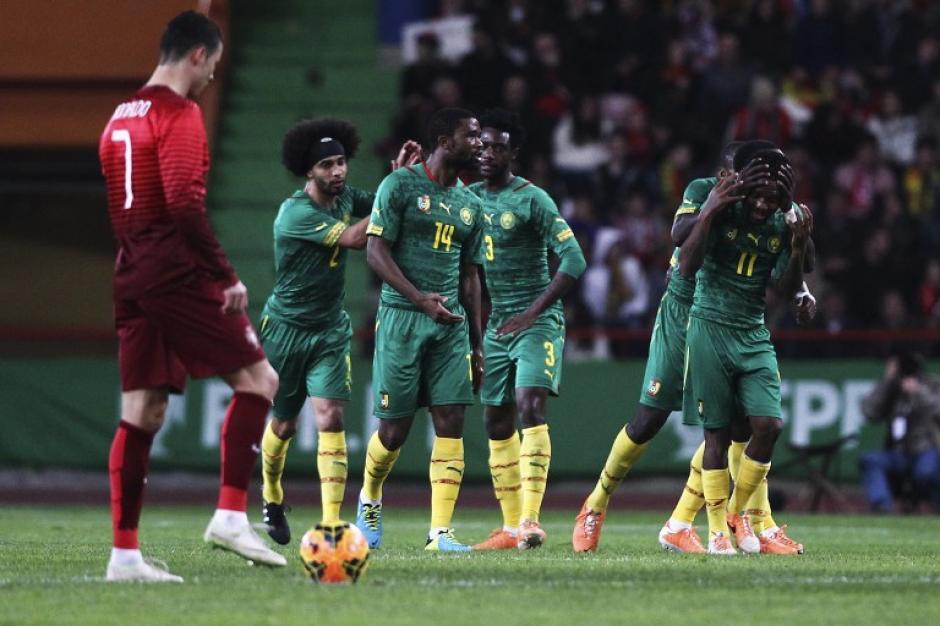El camerunés Vincent Aboubakar fue el encargado de emparejar las acciones en Portugal. (Foto: AFP)