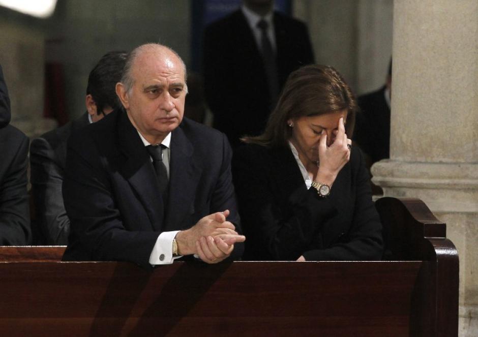 La misa fue oficiada por el Arzobispo de Madrid, Antonio María Rouco. (Foto: AFP)