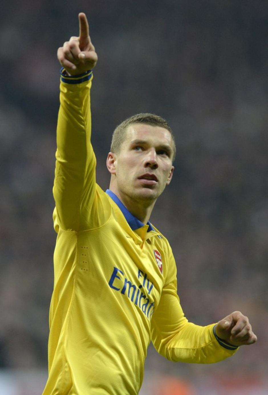 Podolski anotó al minuto 57, tres minutos después de que el Bayern abriera el marcador