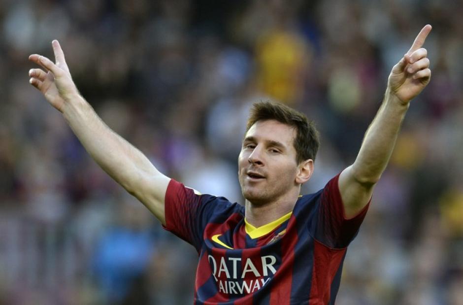 Messi volvió a mostrar el nivel y marcó cuatro de los siete goles del Barcelona sobre el Osasuna. (Foto: AFP)