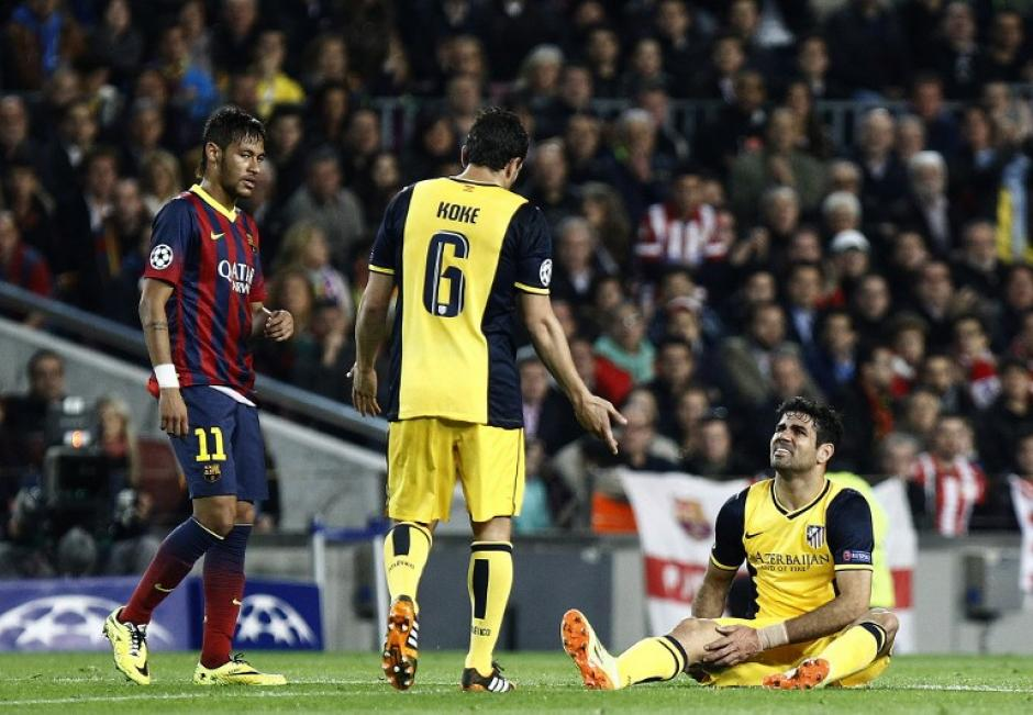 Diego Costa fue la gran pérdida del Atlético en el juego ante el Barcelona