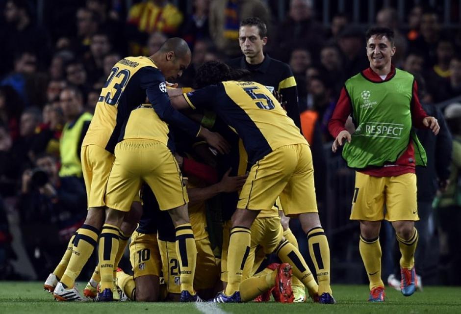 Los dirigidos por Simeone celebraron al minuto 56 en campo ajeno. (Foto: AFP)