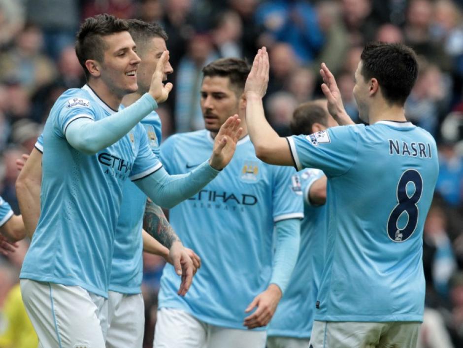 El Manchester City goleó 4-1 al Southampton. (Foto: AFP)