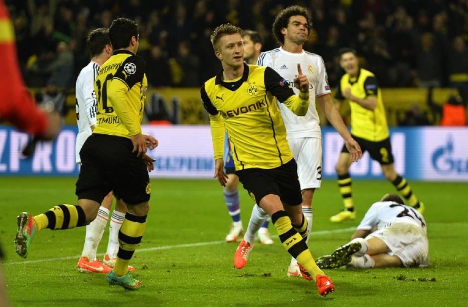 Reus anotó un doblete en el primer tiempo del juego entre el Borussia y el Real Madrid. (Foto: AFP)