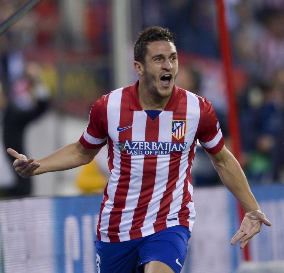 Koke desató la euforia en el estadio Vicente Calderón