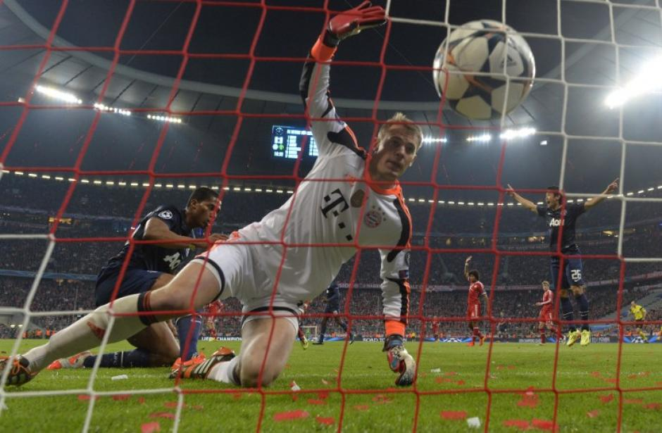 Manuel Neuer, portero del Bayern Munich, fue vencido una vez por el Manchester United, sin embargo el cuadro alemán se llevó el triunfo. (Foto: AFP)