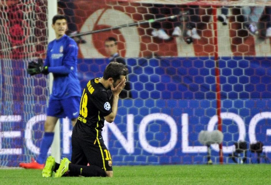 Jordi Alba lamenta la eliminación de su equipo. (Foto: AFP)