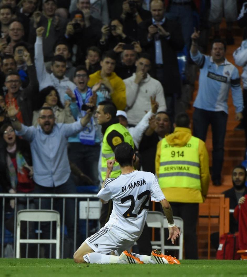 Di María abrió el camino de la goleada madridista al minuto 28. (Foto: AFP)