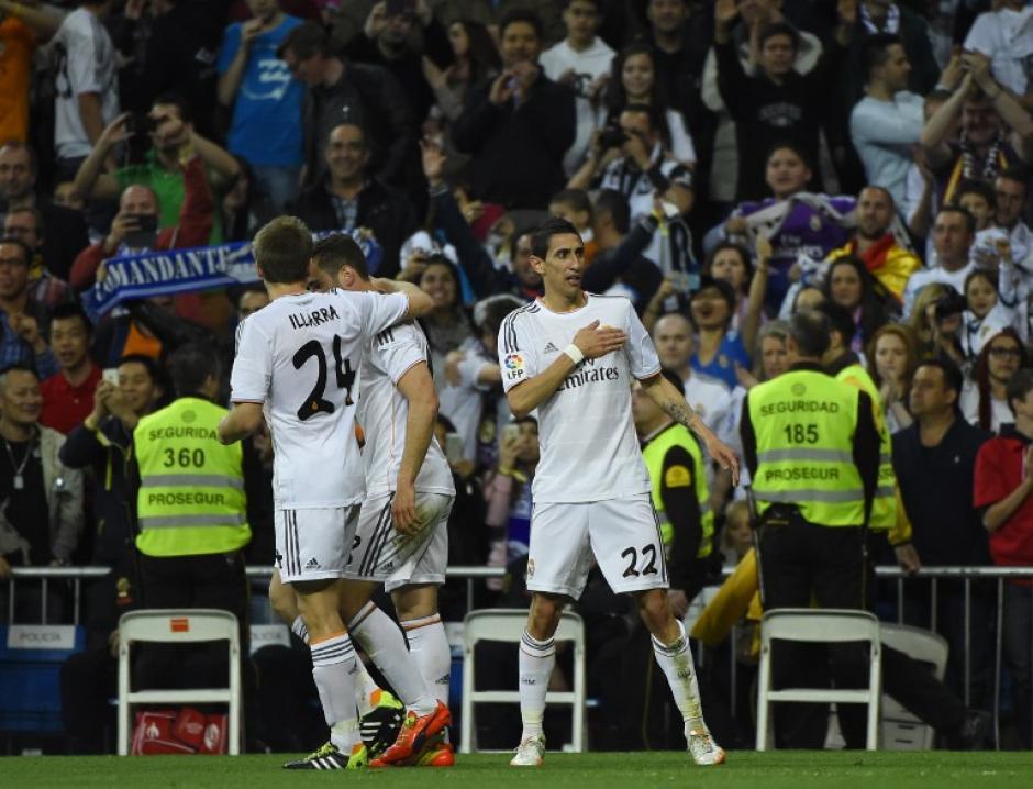 Di María organizó el juego y además anotó un gol, fue muy importante a falta de Cristiano Ronaldo. (Foto: AFP)