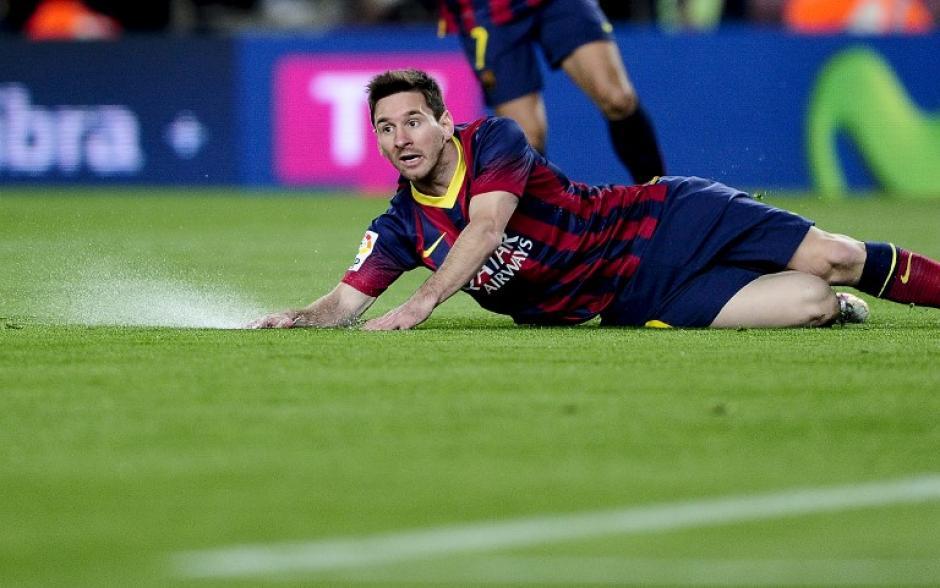 Messi no ha jugado su mejor partido con el Barcelona. (Foto: AFP)