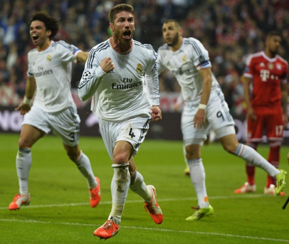 Ramos celebró eufórico su doblete en el Allianz Arena. (Foto: AFP)