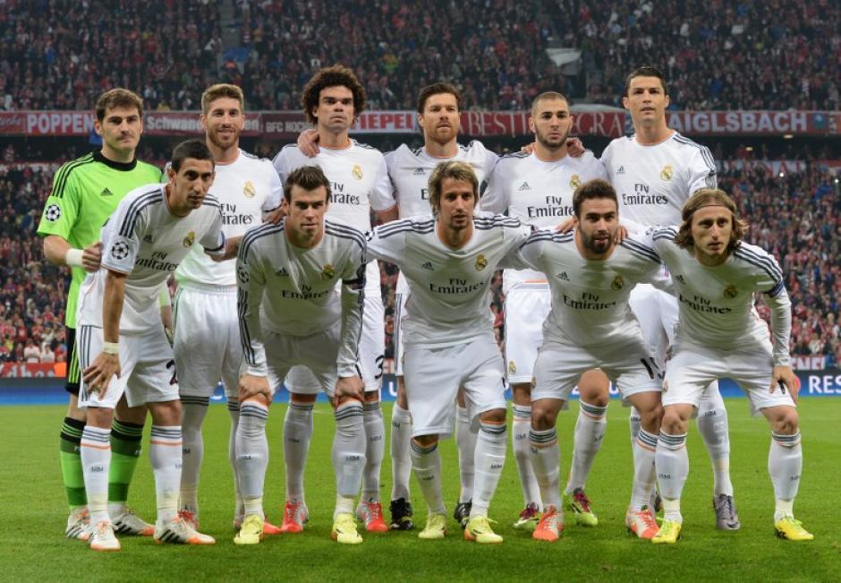 Este fue el once inicial de Ancelotti ante el Bayern Munich en el Allianz Arena. (Foto: AFP)