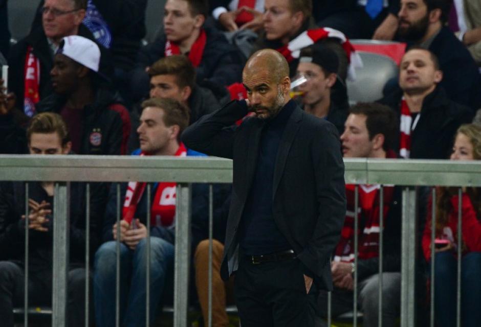 Guardiola cayó de nuevo en el Allianz Arena, antes lo había hecho por la Bundesliga ante el Borussia Dortmund. (Foto: AFP)