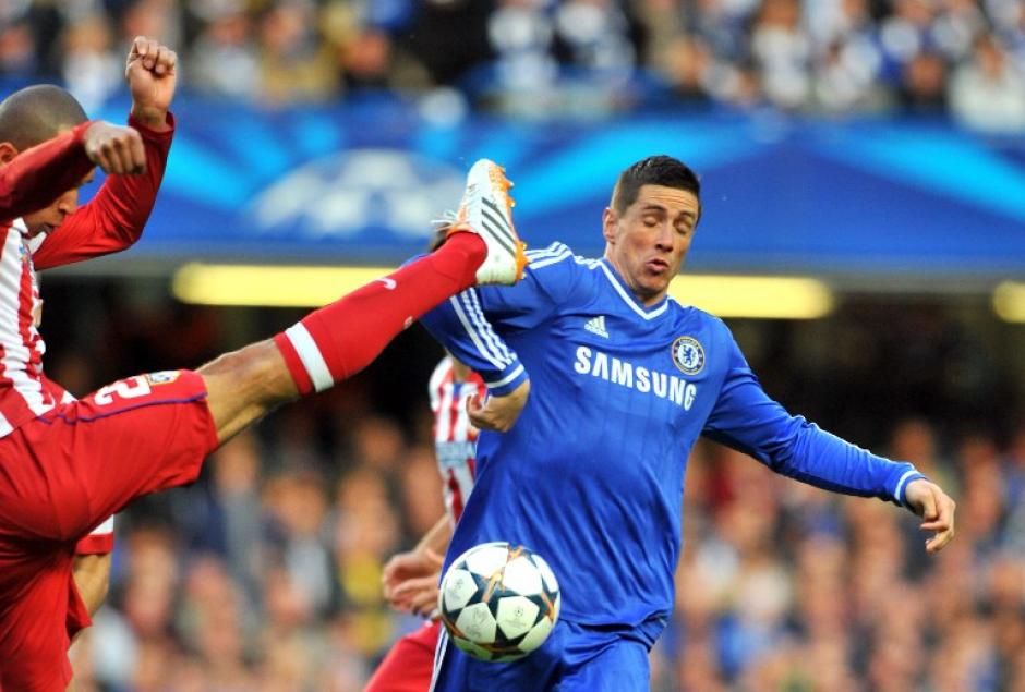 Empate en el Stamford Bridge, con goles de Torres al minuto 36 y Koke al 44, el Chelsea y Atlético empatan 1-1 en el juego de vuelta de semifinales de la UEFA Champions League. (Foto: AFP)