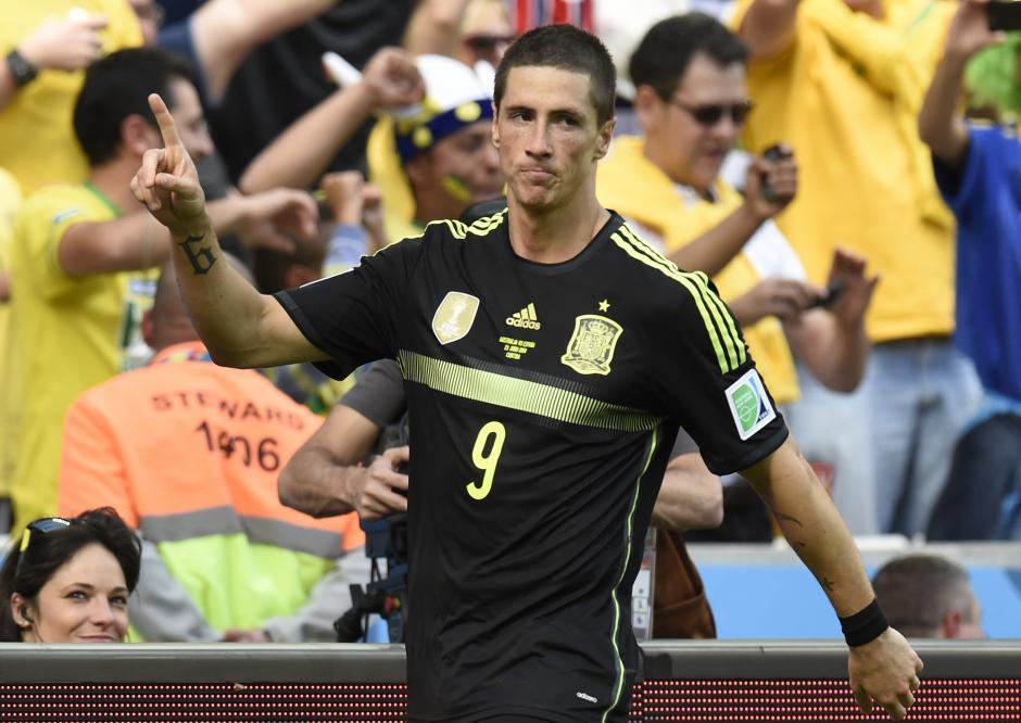 Fernando Torres anotó el segundo de España a pase de Iniesta. (Foto: AFP)
