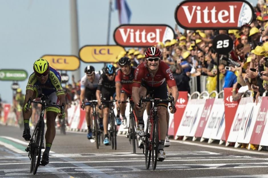 Andre Greipel fue el ganador de la segunda etapa del Tour de France, que se disputó este domingo. (Foto: AFP)