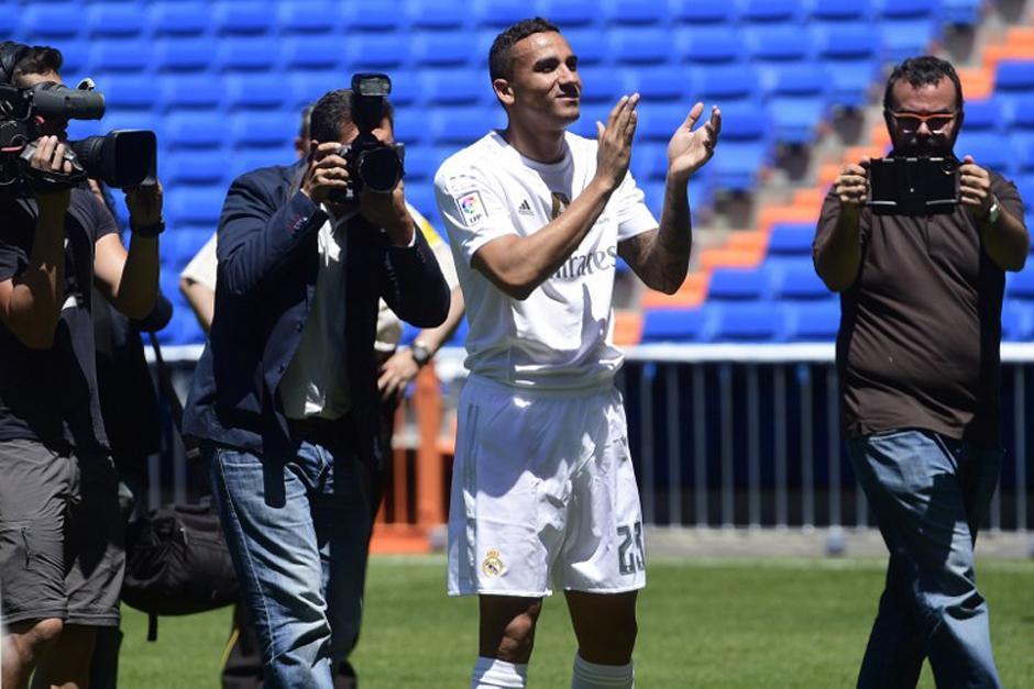 """Danilo por fin pisó el césped del Madrid, """"un sueño desde niño"""", como él mismo dijo. (Foto: AFP)"""