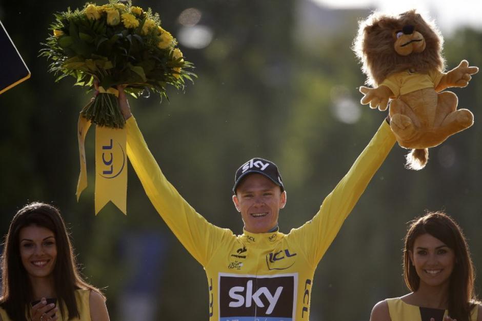 Froome ganó por segunda ocasión un Tour de France, pues lo había logrado en 2013. (Foto: AFP)