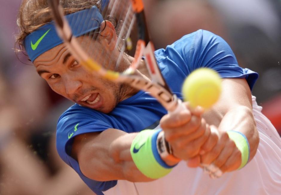 Nadal ganó en dos sets ante Fognini