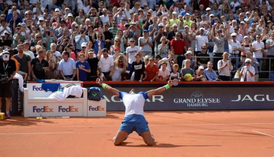 Nadal ganó en Hamburgo su tercer título en lo que va del año. (Foto: AFP)