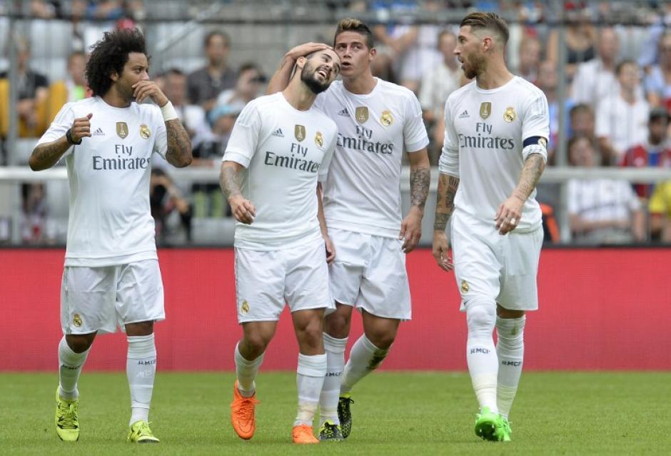 James Rodríguez anotó el gol de la apertura del marcador ante el Tottenham. (Foto: AFP)