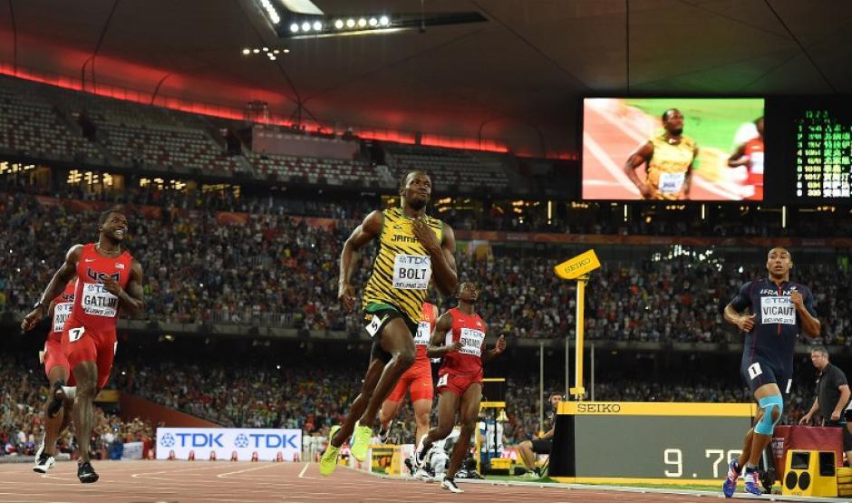 El jamaiquino, Usain Bolt, agrandó su leyenda y ganó un nuevo título mundial en los 100 metros planos. (Foto: AFP)